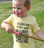 T-SHIRT SCAN ME (gepersonaliseerd met unieke qr code) / BABY-KIDS_