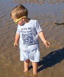 zwemshort scan me if i'm lost (gepersonaliseerd met unieke qr-code)_