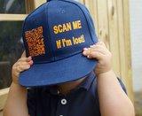 SNAPBACK SCAN ME IF I'M LOST / KIDS (GEPERSONALISEERD MET UNIEKE QR-CODE)_