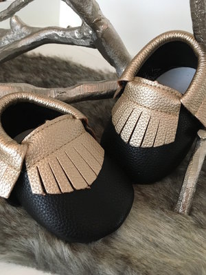 CACHET MINI MOCASSIN - BLACK&GOLD
