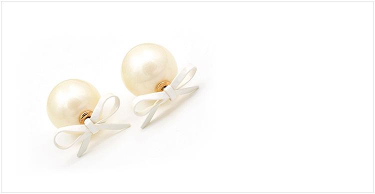 adalene - oorbellen met crèmekleurige parelmoer