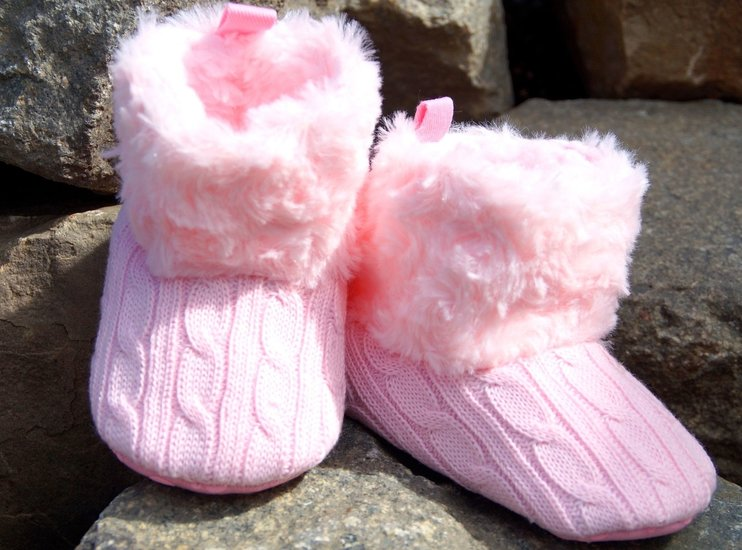 warm mini boots - roze